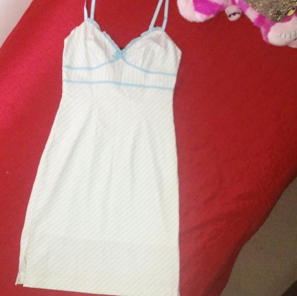 Express Dresses & Skirts - Express baby blue pinstripe dress